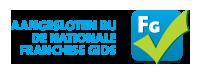 Aangesloten bij De Nationale Franchisegids - logo voor op website formule